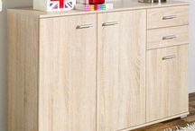 Large Oak Sideboard Storage Unit Cabinet Wooden Book Shelf Cupboard Furniture