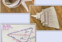 üçgen şal Denenecek projeler