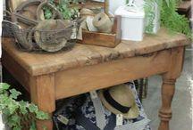 Booth Inspiration - Garden Theme / Garden/spring theme displays for my booth at Oak Mountain Emporium, Pelham, AL