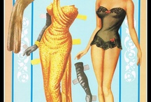 Påklædningsdukkerpåklædningsdukker og glansbilleder