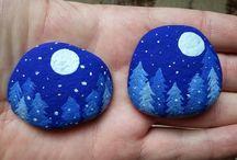 tree painted rocks