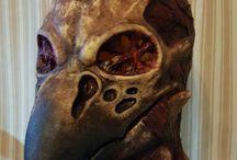 Latex Masks / Latex masks made by me. Tekemiäni lateksimaskeja