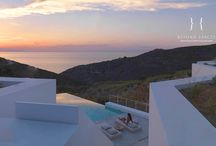 Villa Sunshine / Built on a spectacular plot of 25,560 square meters, Villa Sunshine connects over both sides of a rock-covered valley. Like many Greek houses it is conscious of its landscape and topography and achieves the goal of being visually arresting while not dominating the natural landscape