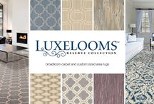 Luxelooms Reserve Carpet and Rugs /  New line of New Zealand wool carpet --- Luxelooms Reserve. We are showing this product in large samples. Great for area rugs too.