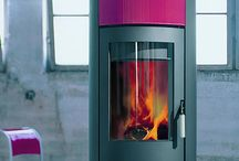 pink Wood Burning Stoves and Interior Design Inspirations / Pictures of pink wood Burning stoves.  Pictures of wood burning stoves that compliment pink as an interior design colour.