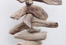 Driftwood mobiles / Driftwood