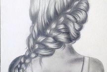 Haj rajz / haj rajzok, hajas rajzok, hajrajzolás, haj rajzolása