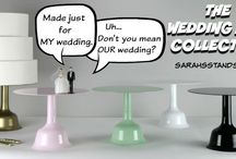 Wedding Bell Cake Stands / The Wedding Bell Cake stands are my newest collection. They are made from carbon steel stand 10 inches tall and have a 14-inch top plate. They come in White, Black, Gold, Light Pink, and Mint Green.