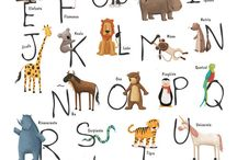 Abecedario / Además de para decorar estos abecedarios nos pueden servir para hacer una baraja de letras con las que poder hacer gran cantidad de juegos para aprender vocabulario ...