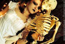 Skeleton Valentine / Model: Syringe Photographer: The House of Pomegranates Stylist/MUA: Taeden Fashion by Gloomth & the Cult of Melancholy