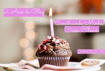 Aniversário do Blog! / Veja + Inspirações e Dicas de decoração no blog!  www.construindominhacasaclean.com
