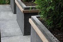 Concrete flower pot