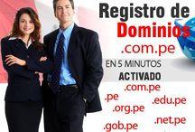 Registro de Dominios / Registro de Dominios Internacionales .com .net .org .info y TLD PERU .com.pe gob.pe en 5 minutos Activado!