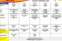 Shopko Menus / This is where you will find the weekly menus.