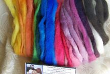 Needle Felting Fiber Packs / Assorted Needle Felting Alpaca fiber packs from Rock Garden Alpacas Fiber Etsy Shop / by Rock Garden Alpacas & Inspired Creations by D