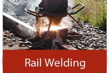 Rail Welding / Pictures of Rail Welding Training, Equipment and in the field.