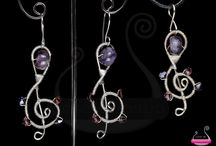 Musical Jewellery / Wire wrapped musical jewellery