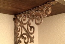 """Brackets & Corbels by Iron Accents"" / One of the most popular items we carry, brackets are also the most versatile and we are always amazed at the ways our customers come up with to use them.  From supporting shelves and counters to framing windows and doorways, with so much to choose from our stunning designs are sure to spark your creativity. / by Iron Accents"