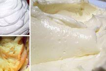 KRÉMY - různé (do zákusků, dortů, oplatků apod.)