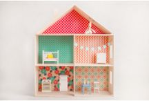 Wooden dolls house