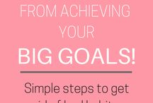 Goals setting / Setting goals and how to achieve them. Best planner to use in goal setting. New Year's resolution,