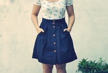 Skirt Patterns with front button placket / Ideas on a skirt with buttons up the front...I want to expand my sewing to buttons and buttonholes!!!!  / by Catharine Laird