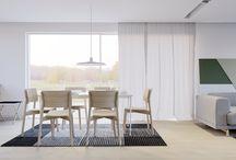Minimalistyczne, duńskie wnętrze / Jasne wnętrze, prosta forma, trochę koloru i ulubiony jasny odcień drewna tak w najprostszy sposób można opisać naszą nową realizację. Pomimo tego, że dla inwestorów nie jest to dom w którym mieszkają na stałe, posiada on wszystko co jest niezbędne do wygodnego funkcjonowania. Nas zachwyciła otwarta przestrzeń i ogromne okna.