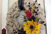Wreaths/Door swag / by Kelly Christianson