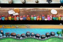 Rocks painted