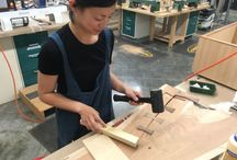 Women in Woodworking / Each month, our monthly woodworking newsletter, Wood News Online, promotes women in woodworking with interviews by Andrea Ramsay @andrearrr