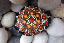 on stones mandala