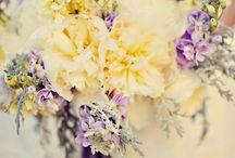 Yellow and lilac wedding theme