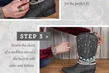 lace boot cuffs and more