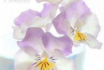 цветы с рисовой бумаги