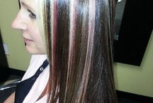 Highlights / Highlighted hair done by the stylists at NY Hair Company Las Vegas