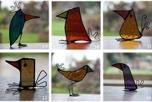 Kuş Vitray tasarımlar