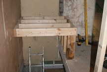 extending over stairs