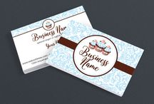 Bakery Business Card Designs / Fabulous business card designs for bakeries and pastry chefs.