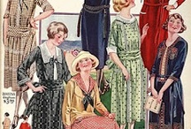 [1920s] ~ day wear / │1920s vintage fashion │ day wear for home and routine activities │ practical and everyday dresses │ 20s fashion │