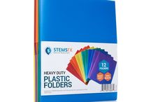 STEMSFX on Boxed / Durable office products and classroom accessories to keep you organized and colorful! #colorfulplasticfolders