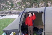 Camping Fun / Tents, caravans, camper vans and dens of all shapes and sizes. Little Trekkers make happy campers