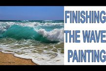 how to paint a seascape video