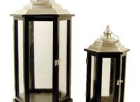 Lanterns / Large wood and glass