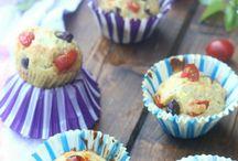 Muffin mediterranei al profumo di basilico