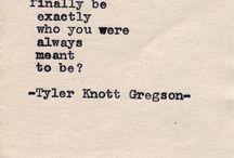 Tyler Knott Gregson <3 / Plucking on my heart strings