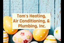 Happy Easter From Tom's Heating, Air Conditioning, & Plumbing