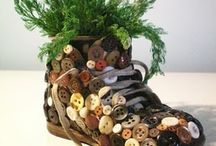 Shoe planter / Buttonart