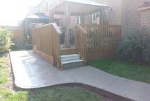 Concrete Walkway & Backyard Installation – Mississauga, Ontario