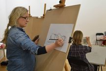 First Life Drawing session in Luan Gallery / Life Drawing Session in Luan Gallery 2014