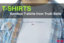 T-Shirts from Truth Belts / Truth Belts makes antibacterial bamboo T-shirts! - The Atma tee for women and the Mojo tee for men. Our shirts are super soft, and their natural antibacterial properties will keep you healthy and your skin feeling great. They also don't shrink! $29.00 www.truthbelts.com / by Truth Belts - Vegan Fashion